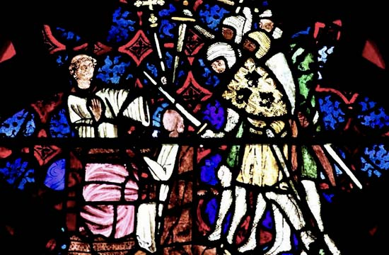 Martyre de Saint Thomas Becket - Vitrail du 14e siècle - Christ Church - Oxford